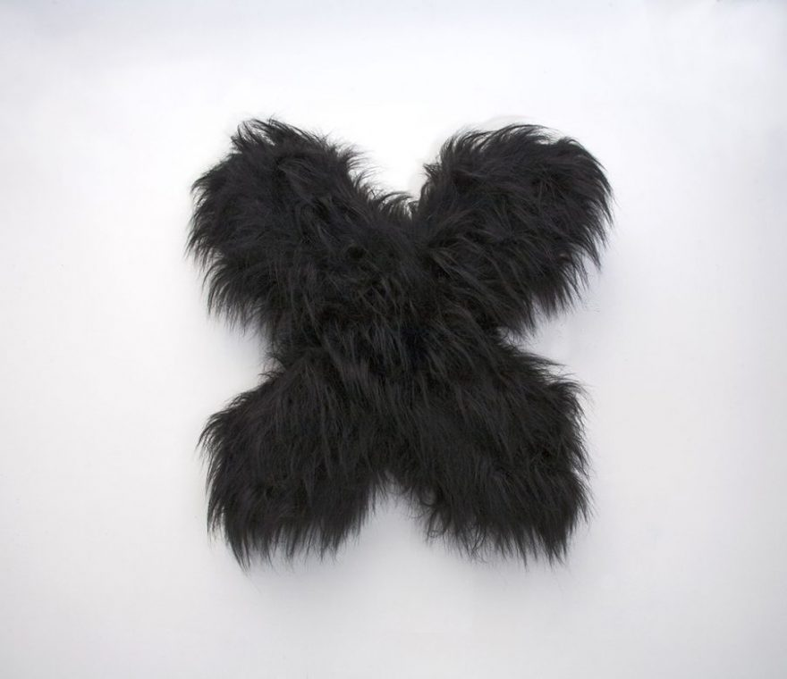 black fur x sculpture